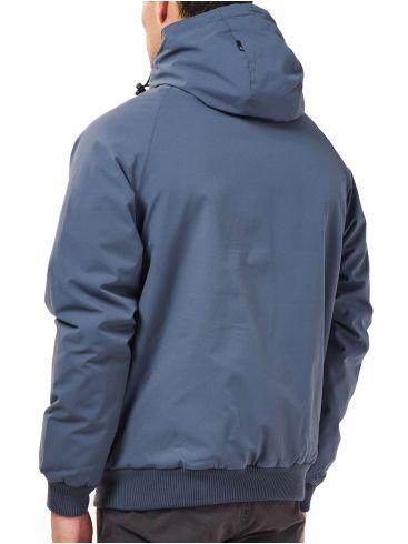 BASEHIT Ανδρικό γαλάζιο φλίς μπουφάν 202.BM10.06 Grey