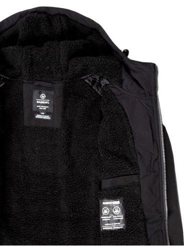 BASEHIT Ανδρικό μαύρο φλίς μπουφάν 202.BM10.06 Black