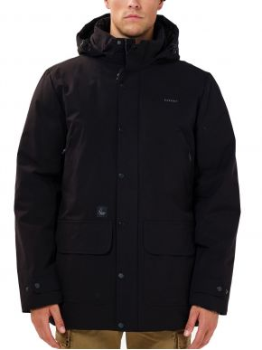 BASEHIT Ανδρικό μαύρο μπουφάν 202.BM10.17 Black