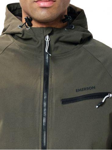 EMERSON Ανδρικό χακί αντιανεμικό φλίς μπουφάν 202.EM10.70 Army Green