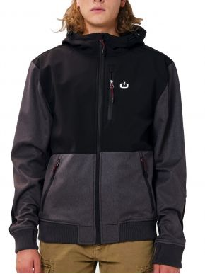 EMERSON Ανδρικό μαύρο αντιανεμικό φλίς μπουφάν 202.EM11.27 BD GMD Grey / Black