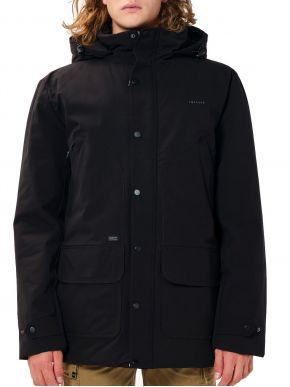EMERSON Ανδρικό μαύρο ζεστό παρκά τζάκετ 202.EM10.117 Black