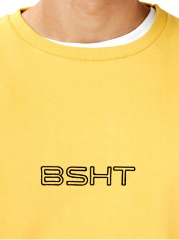 BASEHIT Ανδρικό φούτερ 202.BM20.20 Yellow Mustard