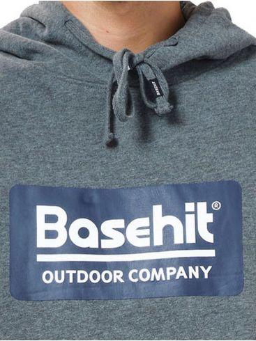 BASEHIT Ανδρικό γκρί φούτερ 202.BM20.10 Dark Grey