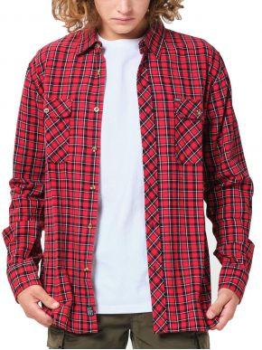 EMERSON Ανδρικό καρό πουκάμισο 202.EM60.80 EM16 Red Black