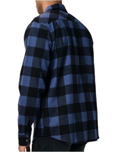EMERSON Ανδρικό καρό πουκάμισο 202.EM60.80 Em19 Raff Blue Black