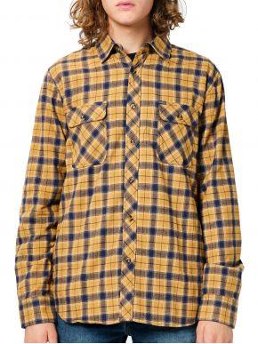 EMERSON Ανδρικό καρό πουκάμισο 202.EM60.80 Em21 Mustard Blue