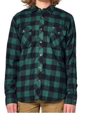 EMERSON Ανδρικό καρό πουκάμισο 202.EM60.80 Em24 Green Black