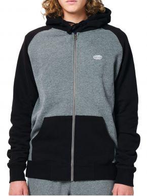 EMERSON Ανδρική ζακέτα φούτερ 202.EM21.55 Dark Grey Black