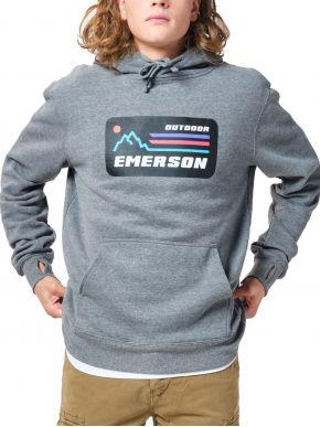 EMERSON Ανδρικό γκρί φούτερ 202.EM20.07 Dark Grey