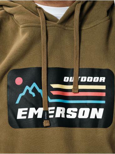 EMERSON Ανδρικό λαδί φούτερ 202.EM20.07 Khaki