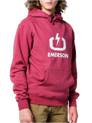 EMERSON Ανδρικό κόκκινο φούτερ 202.EM20.01 Berry