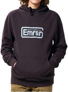 EMERSON Ανδρικό φούτερ κουκούλα 202.EM20.05 Ebony