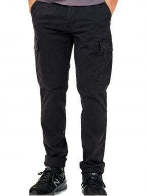 EMERSON Ανδρικό μαύρο cargo παντελόνι 202.EM42.96 Black