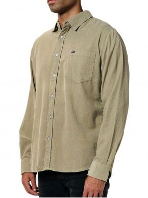 EMERSON Ανδρικό κοτιλέ πουκάμισο, τσέπη. 202.EM60.10A Beige