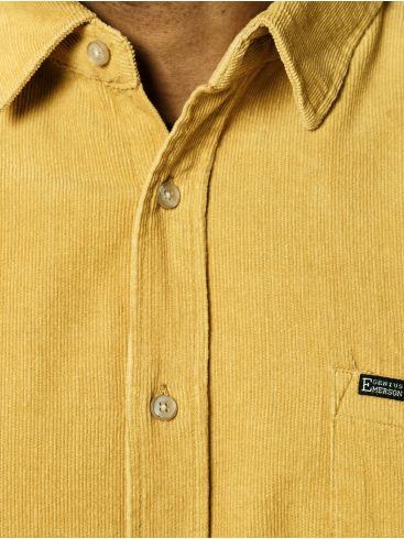 EMERSON Ανδρικό κοτιλέ πουκάμισο, τσέπη. 202.EM60.10A Ochre