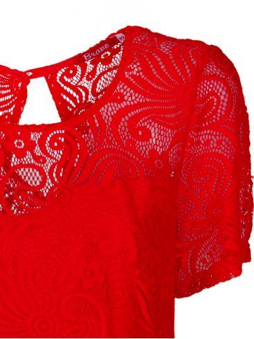 BRAVO Βραδινή δαντελωτή μπλούζα