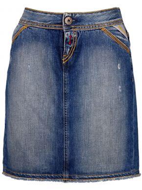 REPLAY Γυναικεία σταθερή τζιν φούστα, pencil γραμμή