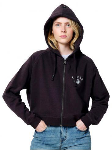 EMERSON Γυναικεία μπορντώ ζακέτα φούτερ 202.EW21.43 EBONY