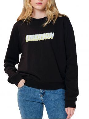 EMERSON Γυναικείο μαύρο φούτερ 202.EW20.49 Black