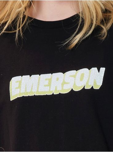 EMERSON Γυναικεία μαύρο φούτερ 202.EW20.49 Black