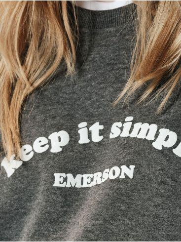 EMERSON Γυναικεία γκρί φούτερ 202.EW20.47 DARK GREY