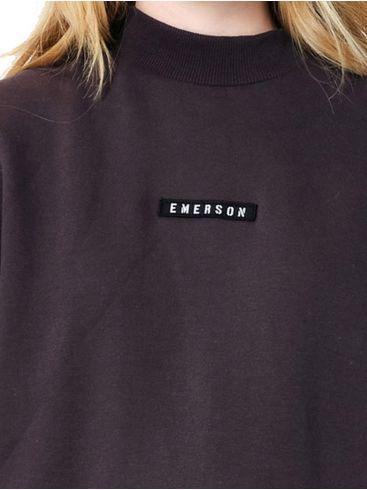 EMERSON Γυναικεία μπορντό φούτερ, κουκούλα. 202.EW20.45 EBONY