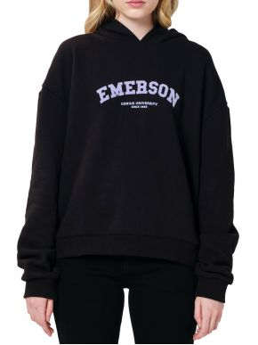EMERSON Γυναικείο μαύρο φούτερ, κουκούλα. 202.EW20.39 BLACK