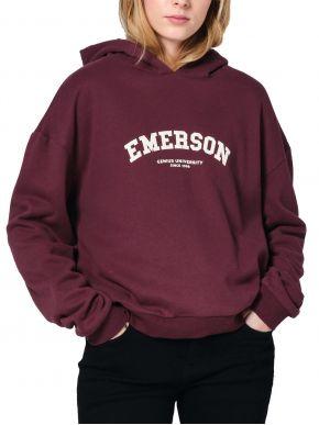 EMERSON Γυναικείο μπορντό φούτερ, κουκούλα. 202.EW20.39 Wine
