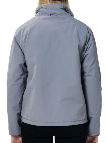 EMERSON Γυναικείο γκρί φλίς φούτερ μπουφάν 202.EW17.33 GREY LIGHT GREY