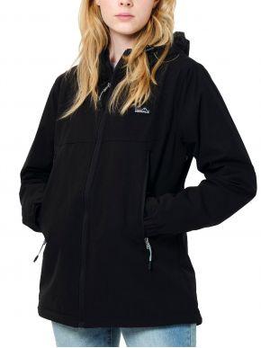 EMERSON Γυναικείο μπουφάν, αποσπώμενη κουκούλα, 202.EW11.31 BLACK