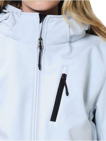 EMERSON Γυναικείο μπουφάν, αποσπώμενη κουκούλα, 202.EW11.31 ICE WHITE