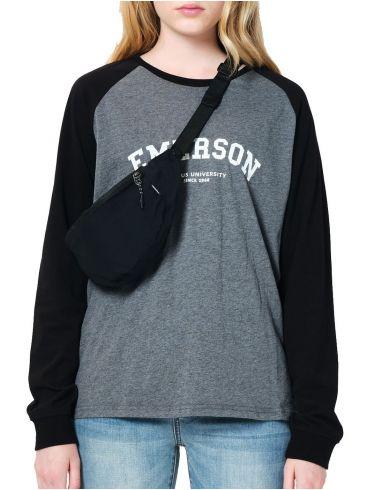 EMERSON Γυναικεία μακρυμάνικη μπλούζα 202.EW31.29 DARK-GREY BLACK