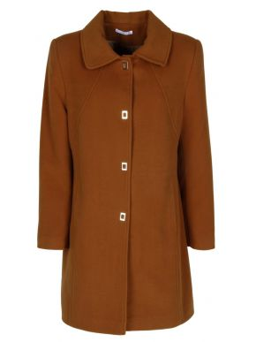 VETO Γυναικείο παλτό, κλείσιμο με κρυφέ κόπιτσες, βελούρ πέτο γιακά.