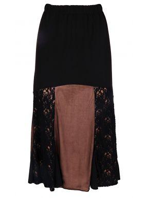 RAXSTA Μαύρη μακριά κλοσαριστή αμπιγέ φούστα