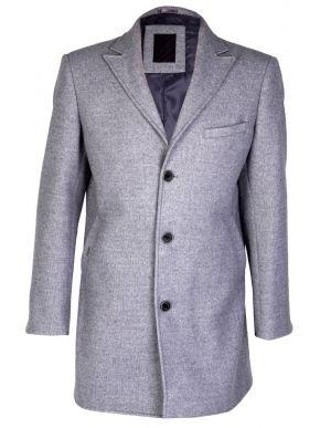 STEFAN Ανδρικό γκρί μεσάτο παλτό. Ιταλικός σχεδιασμός