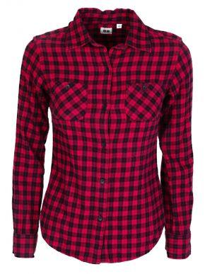 ZUIKI Γυναικείο κόκκινο-μαύρο καρό πουκάμισο φανέλα