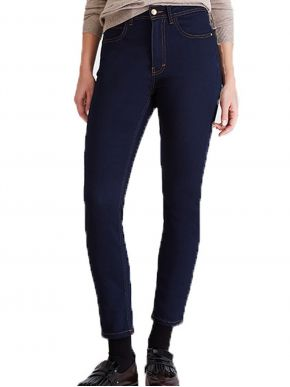 More about SARAH LAWRENCE Γυναικείο extra waist-high skinny blue black ελαστικό παντελόνι τζιν