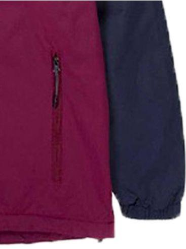 BASEHIT Ανδρικό κόκκινο μπουφάν 192.BM10.72 DOBBY RASPBERRY NAVY BLUE EBONY