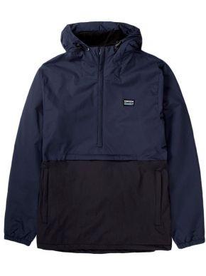 BASEHIT Ανδρικό μπλέ μπουφάν 192.EM10.02 DOBBY BLACK NAVY BLUE