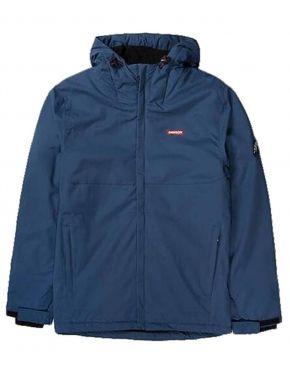 BASEHIT Ανδρικό μπλέ μπουφάν 192.EM10.03 DOBBY D.ROYAL BLUE