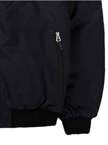 BASEHIT Ανδρικό μαύρο μπουφάν 192.EM10.138 DRP BLACK