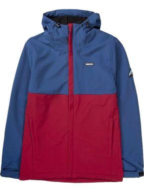 EMERSON Ανδρικό κόκκινο μπουφάν 192.EM11.03 BD RED D.ROYAL BLUE