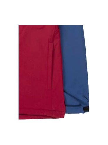 BASEHIT Ανδρικό κόκκινο μπουφάν 192.EM11.03 BD RED D.ROYAL BLUE