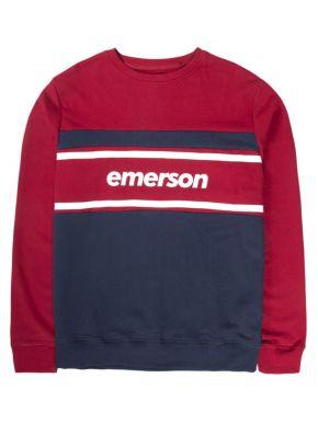 EMERSON Ανδρικό κόκκινο φούτερ 192.EM20.77 RED MIDNIGHT BLUE