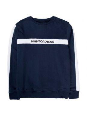 EMERSON Ανδρικό μπλέ φούτερ 192.EM20.83 MIDNIGHT BLUE WHITE