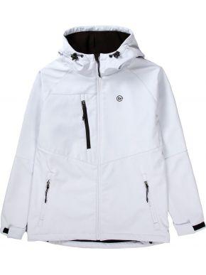 BASEHIT Γυναικείο λευκό μπουφάν 192.BW11.17 BD WHITE