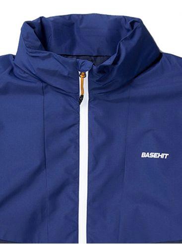 BASEHIT Ανδρικό μπλέ μπουφάν 201.BM10.10 RP NAVY BLUE ROYAL BLUE