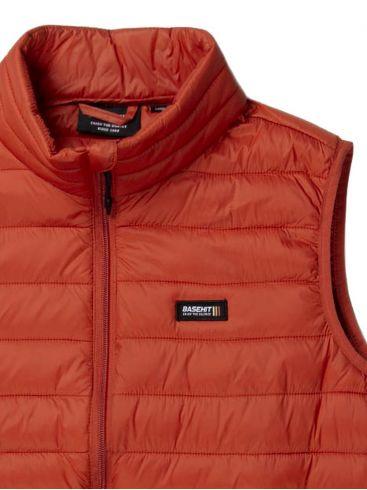 BASEHIT Ανδρικό πορτοκαλί αμάνικο μπουφάν 201.BM10.141 NL BURNT ORANGE