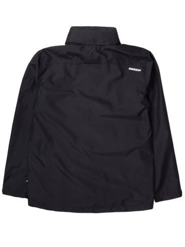 BASEHIT Ανδρικό μαύρο μπουφάν 201.EM10.12 RP BLACK